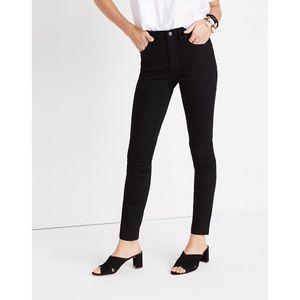Madewell 9' high rise skinny black pants